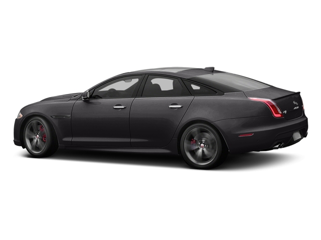 Ultimate Black Metallic 2017 Jaguar XJ Pictures XJ Sedan 4D XJR V8 Supercharged photos side view