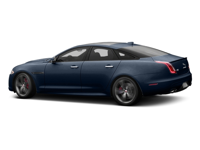 Dark Sapphire Metallic 2017 Jaguar XJ Pictures XJ Sedan 4D XJR V8 Supercharged photos side view