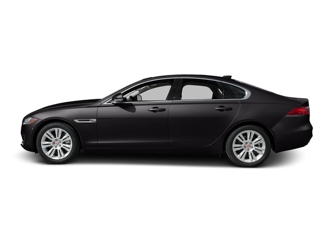 Ultimate Black Metallic 2017 Jaguar XF Pictures XF Sedan 4D 35t Premium AWD V6 Sprchrd photos side view