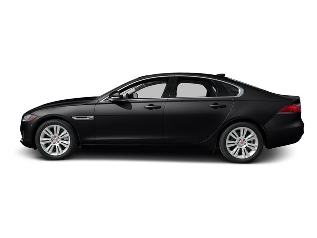 Ebony 2017 Jaguar XF Pictures XF Sedan 4D 35t Premium AWD V6 Sprchrd photos side view