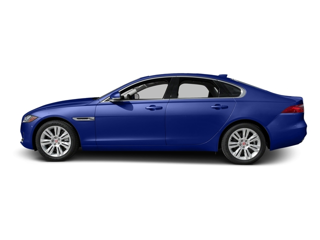 Caesium Blue Metallic 2017 Jaguar XF Pictures XF Sedan 4D 35t Premium AWD V6 Sprchrd photos side view