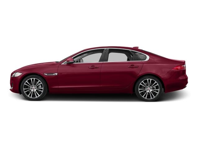 Odyssey Red Metallic 2017 Jaguar XF Pictures XF 35t Prestige AWD photos side view
