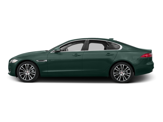 British Racing Green Metallic 2017 Jaguar XF Pictures XF 35t Prestige AWD photos side view