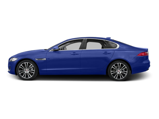 Caesium Blue Metallic 2017 Jaguar XF Pictures XF 35t Prestige AWD photos side view