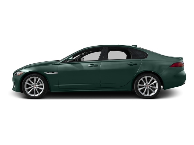 British Racing Green Metallic 2017 Jaguar XF Pictures XF 35t R-Sport RWD photos side view