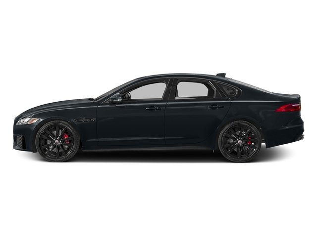 Celestial Black 2017 Jaguar XF Pictures XF S RWD photos side view