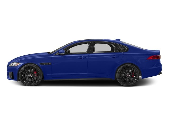Caesium Blue Metallic 2017 Jaguar XF Pictures XF S RWD photos side view
