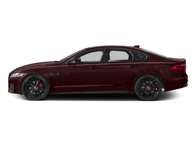 Aurora Red Metallic 2017 Jaguar XF Pictures XF S RWD photos side view