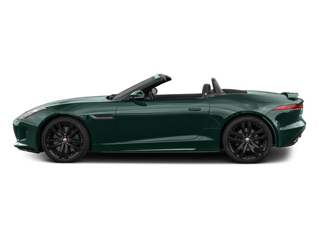 British Racing Green Metallic 2017 Jaguar F-TYPE Pictures F-TYPE Convertible 2D S AWD V6 photos side view