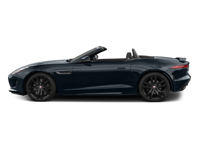 Dark Sapphire Metallic 2017 Jaguar F-TYPE Pictures F-TYPE Convertible 2D S AWD V6 photos side view