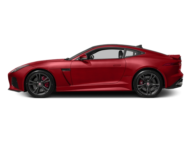 Caldera Red 2017 Jaguar F-TYPE Pictures F-TYPE Coupe Auto SVR AWD photos side view