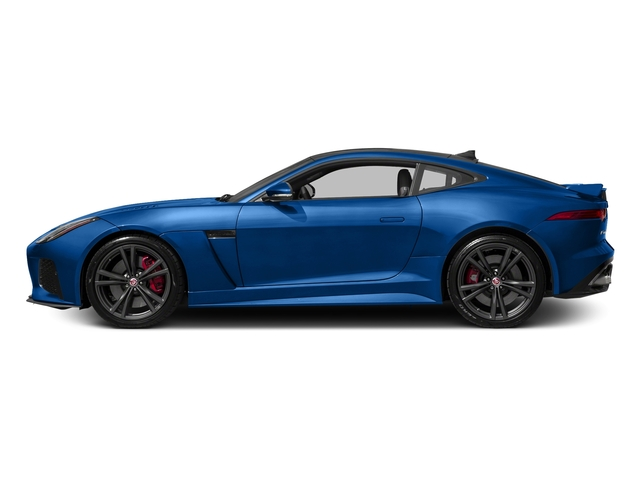 Ultra Blue Metallic 2017 Jaguar F-TYPE Pictures F-TYPE Coupe Auto SVR AWD photos side view