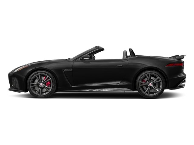 Ultimate Black Metallic 2017 Jaguar F-TYPE Pictures F-TYPE Convertible 2D SVR AWD V8 photos side view