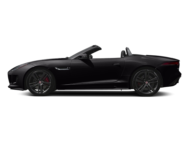 Ultimate Black Metallic 2017 Jaguar F-TYPE Pictures F-TYPE Convertible Auto S British Design Edition photos side view