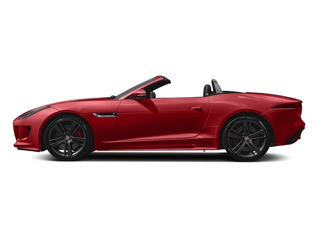 Caldera Red 2017 Jaguar F-TYPE Pictures F-TYPE Convertible Auto S British Design Edition photos side view