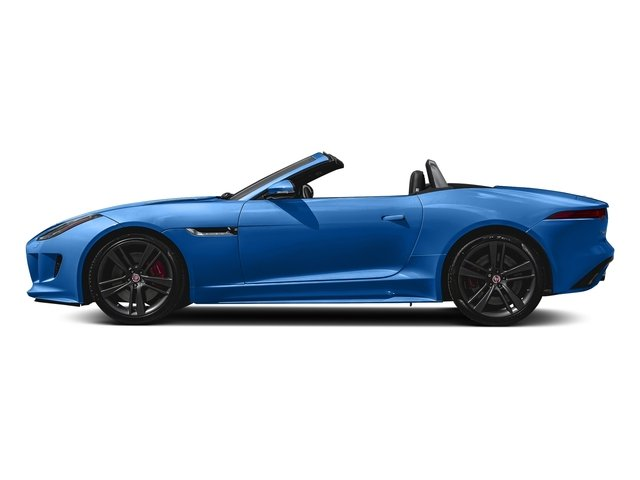 Ultra Blue Metallic 2017 Jaguar F-TYPE Pictures F-TYPE Convertible Auto S British Design Edition photos side view