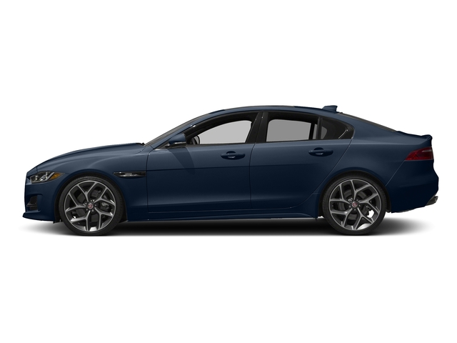 Dark Sapphire Metallic 2017 Jaguar XE Pictures XE Sedan 4D 25t I4 Turbo photos side view