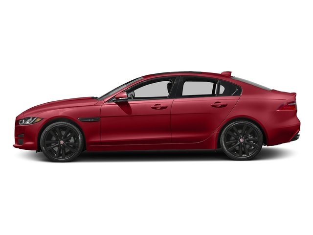 Italian Racing Red Metallic 2017 Jaguar XE Pictures XE 35t Premium AWD photos side view