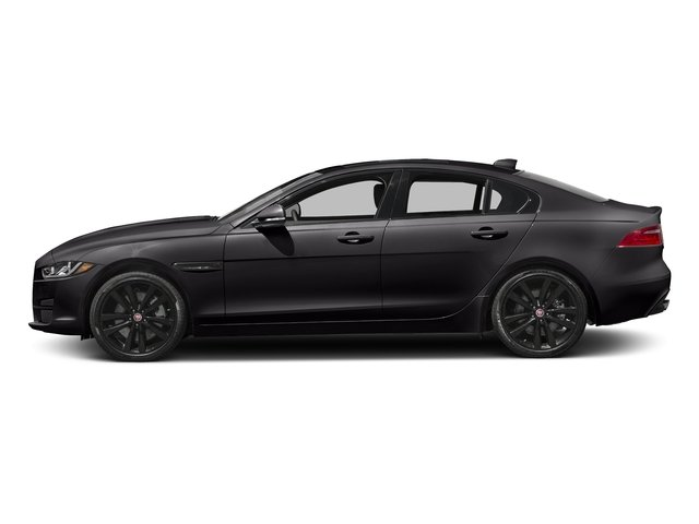 Ultimate Black Metallic 2017 Jaguar XE Pictures XE 25t Premium RWD photos side view