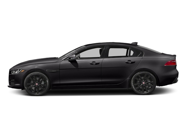 Ultimate Black Metallic 2017 Jaguar XE Pictures XE 35t Prestige AWD photos side view