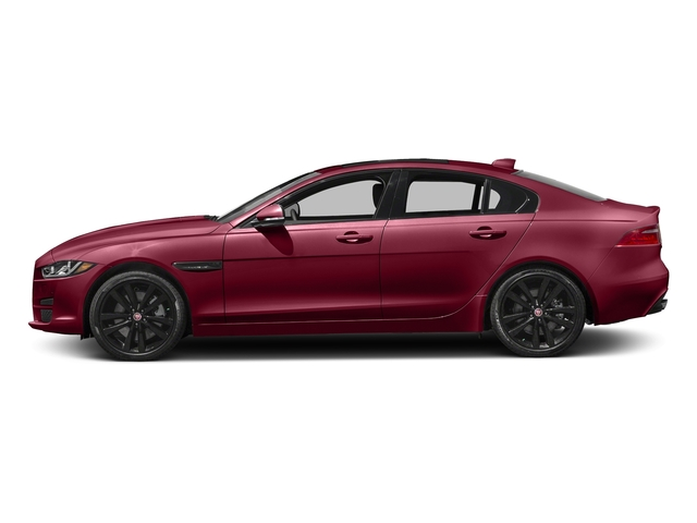 Odyssey Red Metallic 2017 Jaguar XE Pictures XE 35t Premium AWD photos side view