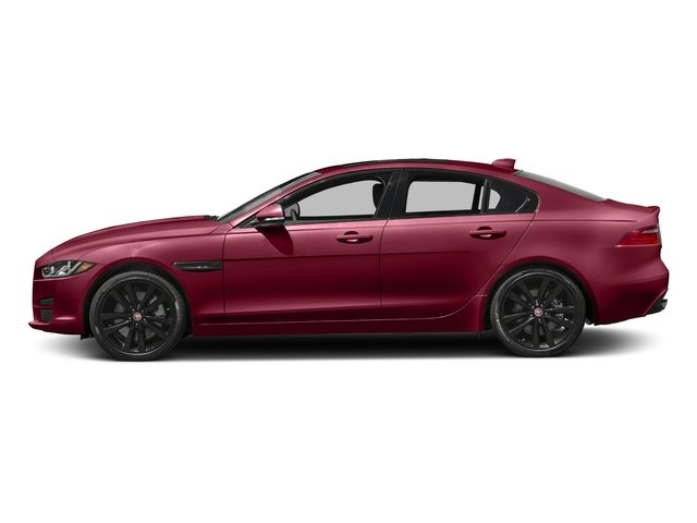 Odyssey Red Metallic 2017 Jaguar XE Pictures XE 35t Prestige AWD photos side view