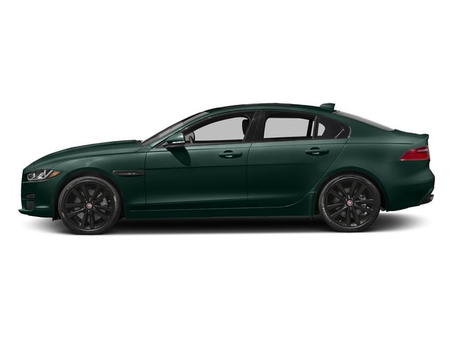 British Racing Green Metallic 2017 Jaguar XE Pictures XE 35t Prestige AWD photos side view