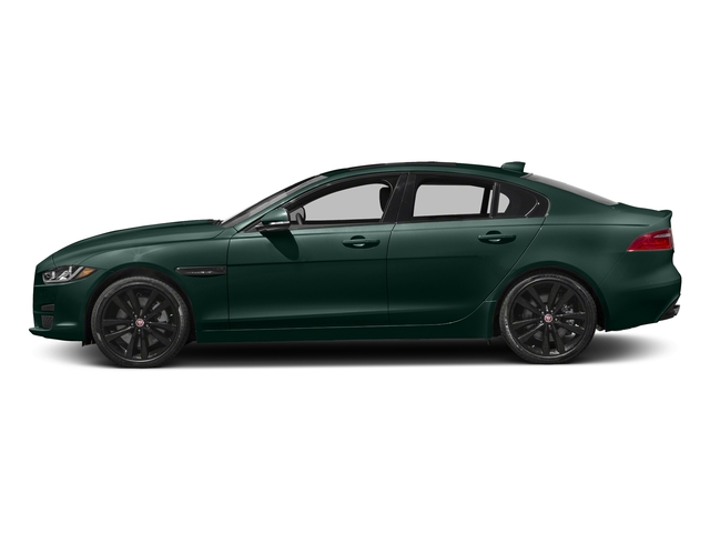 British Racing Green Metallic 2017 Jaguar XE Pictures XE 35t Premium AWD photos side view