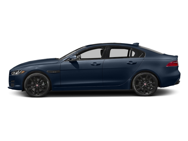 Dark Sapphire Metallic 2017 Jaguar XE Pictures XE 35t Premium AWD photos side view