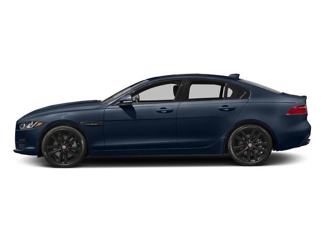 Dark Sapphire Metallic 2017 Jaguar XE Pictures XE 25t Premium RWD photos side view