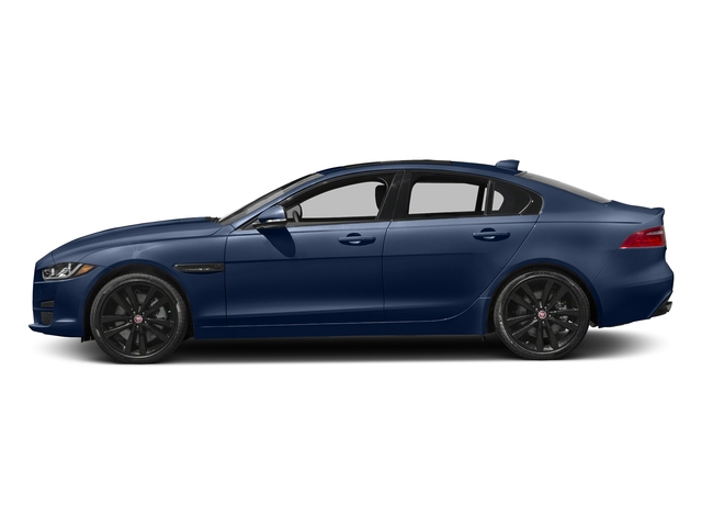 Bluefire Metallic 2017 Jaguar XE Pictures XE 35t Prestige AWD photos side view