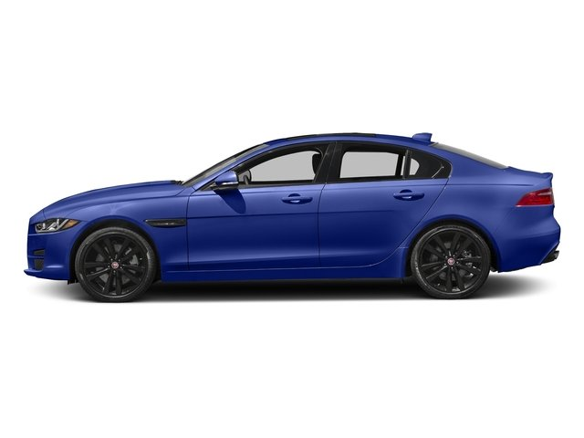 Caesium Blue Metallic 2017 Jaguar XE Pictures XE 35t Premium AWD photos side view