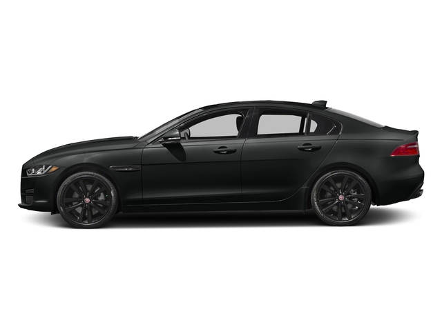 Cosmic Black 2017 Jaguar XE Pictures XE 35t Prestige AWD photos side view