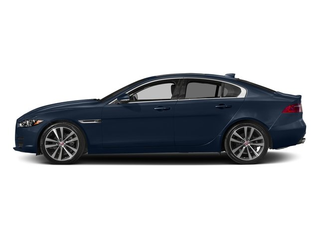 Dark Sapphire Metallic 2017 Jaguar XE Pictures XE Sedan 4D 20d AWD I4 T-Diesel photos side view