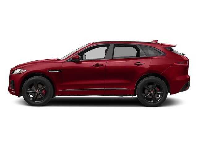 Italian Racing Red Metallic 2017 Jaguar F-PACE Pictures F-PACE Utility 4D S AWD V6 photos side view
