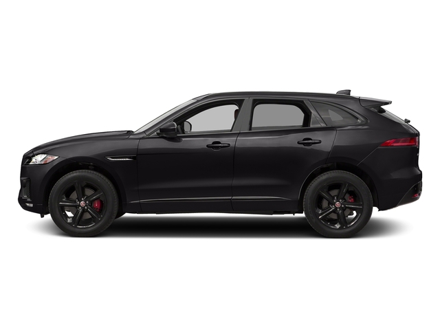 Ultimate Black Metallic 2017 Jaguar F-PACE Pictures F-PACE Utility 4D S AWD V6 photos side view