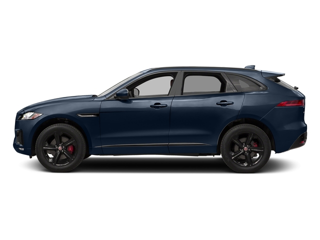 Dark Sapphire Metallic 2017 Jaguar F-PACE Pictures F-PACE Utility 4D S AWD V6 photos side view
