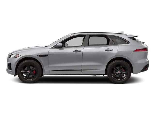 Glacier White Metallic 2017 Jaguar F-PACE Pictures F-PACE Utility 4D S AWD V6 photos side view