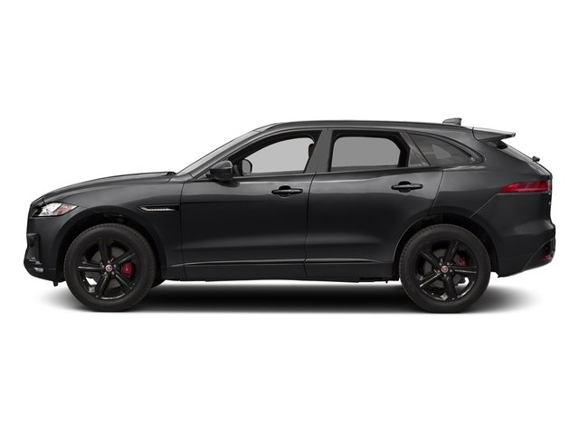 Ebony 2017 Jaguar F-PACE Pictures F-PACE Utility 4D S AWD V6 photos side view