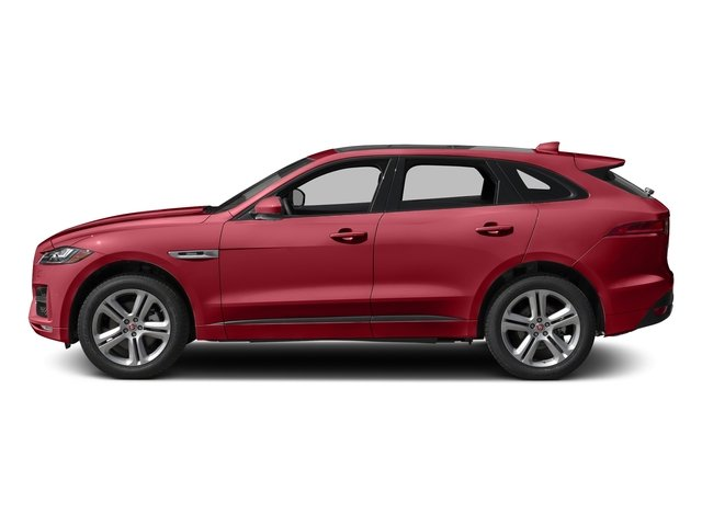 Italian Racing Red Metallic 2017 Jaguar F-PACE Pictures F-PACE Utility 4D 35t R-Sport AWD V6 photos side view