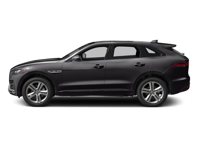 Ultimate Black Metallic 2017 Jaguar F-PACE Pictures F-PACE Utility 4D 35t R-Sport AWD V6 photos side view