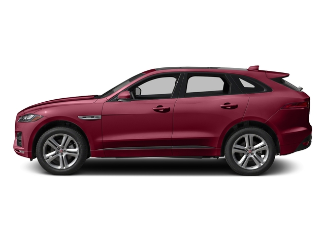 Odyssey Red Metallic 2017 Jaguar F-PACE Pictures F-PACE Utility 4D 35t R-Sport AWD V6 photos side view