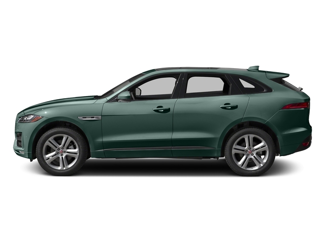 British Racing Green Metallic 2017 Jaguar F-PACE Pictures F-PACE Utility 4D 35t R-Sport AWD V6 photos side view
