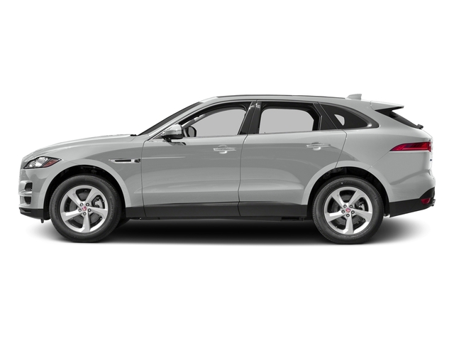 Rhodium Silver Metallic 2017 Jaguar F-PACE Pictures F-PACE 35t Prestige AWD photos side view