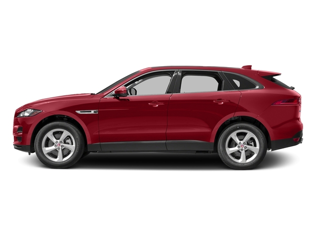 Italian Racing Red Metallic 2017 Jaguar F-PACE Pictures F-PACE 35t Prestige AWD photos side view