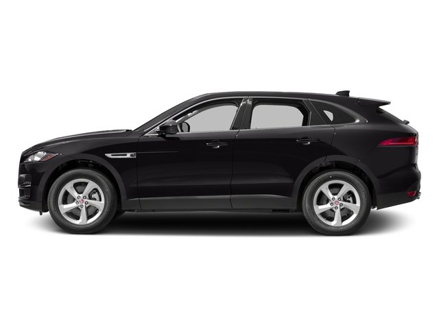 Ultimate Black Metallic 2017 Jaguar F-PACE Pictures F-PACE 35t Prestige AWD photos side view