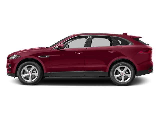 Odyssey Red Metallic 2017 Jaguar F-PACE Pictures F-PACE 35t Prestige AWD photos side view