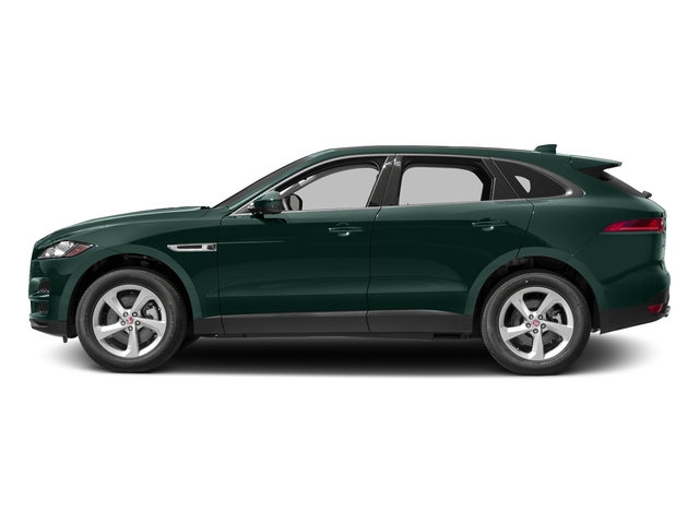 British Racing Green Metallic 2017 Jaguar F-PACE Pictures F-PACE 35t Prestige AWD photos side view