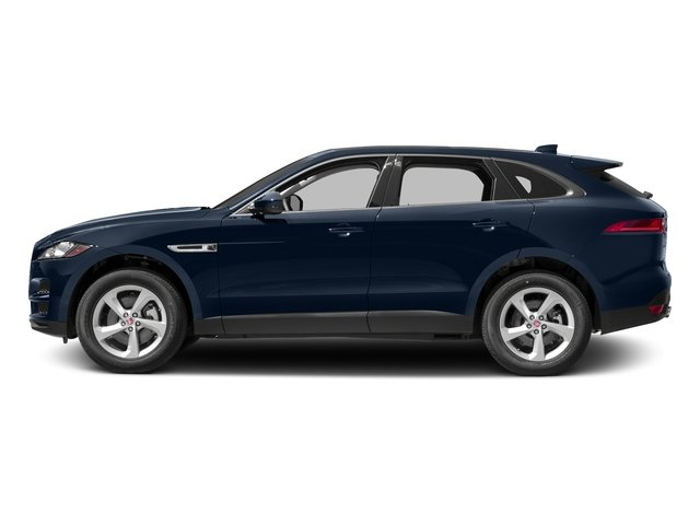 Dark Sapphire Metallic 2017 Jaguar F-PACE Pictures F-PACE 35t Prestige AWD photos side view