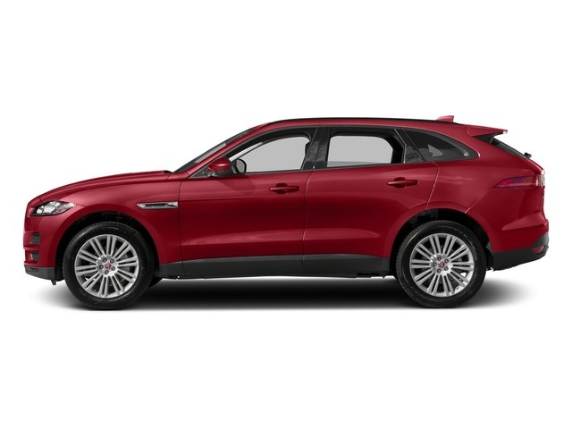 Italian Racing Red Metallic 2017 Jaguar F-PACE Pictures F-PACE 20d Prestige AWD photos side view